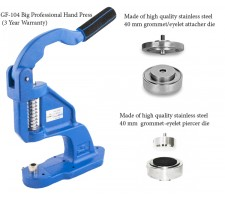 GF-104  Professional Grommet Hand Press 40 mm Set