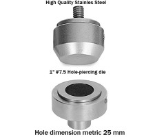 "#7.5 (1"")Hole Piercer Die (25mm)Made of High Quality Stainless Steel"