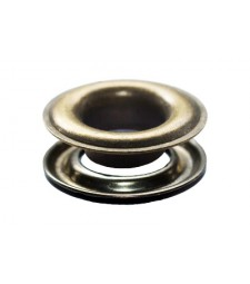 "SPGW #2XL (3/8"") (Long Neck 12mm) Inside Hole :9,5mm Self-Piercing Grommets & Washers (500 Sets) Color Antique Brass"