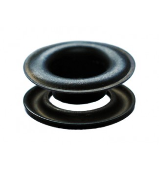 "SPGW #3 (7/16"") Self-Piercing Grommets & Washers Made Of High Quality Solid Brass (500 Sets) Color Black Oxide"