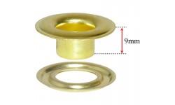 """SPGW #3L (7/16"""") Long Neck  9mm ID:11mm Self-Piercing Grommets & Washers (500 sets)"""