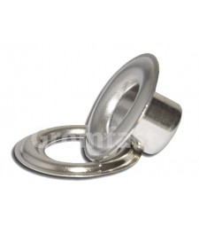 "11/16"" ID (#5.5) (18.2mm)Self Piercing Brass grommets & washers (Made Of Hgh Quality Brass) Nickel Color"