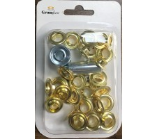 #3(12mm)Hand Tool Repair Set With 25 pcs Grommet & Washer Made of High Qulity Brass(Repair Kit)