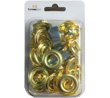 #4(16mm)Hand Tool Repair Set With 25 pcs Grommet & Washer Made of High Qulity Brass(Repair Kit)