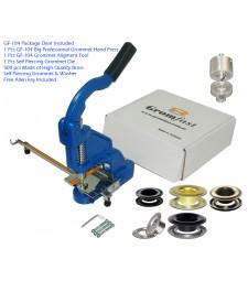 "GF-104 Grommet Hand Press With #2 (3/8"") (9,5mm)Self Piercing Grommet & Washer 500Pcs & Die & Aligment Tool Set"
