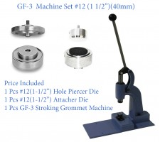 GF-3 Stroking Grommet Machine With #12 Attacher & Piercer Die Set