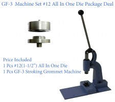 GF-3 Stroking Grommet Machine With #12 All In One Die Set(40mm)