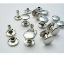 6 mm Double Cap Rivets  (1000 pcs set per bag)Made of High Quality Brass