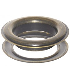 Round #12 (1 1/2\ inch ) Metal Grommets and Washers(Antique Brass Color)(ID 40 mm Ø)(100 pcs set)