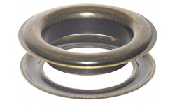 "#15(2"") 50 mm Metal Grommets-Eyelets & Washers (Antique Brass Plated )(100 Psc Set Per Bag)"