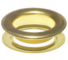 "#15(2"") 50 mm Metal Grommets-Eyelets & Washers (Clean Brass Plated )(100 Psc Set Per Bag)"