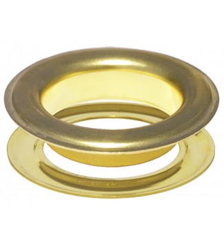 """#15(2"""") 50 mm Metal Grommets-Eyelets & Washers (Clean Brass Plated )(100 Psc Set Per Bag)"""