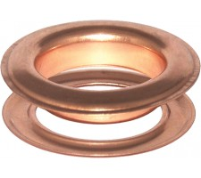 Round #12 (1 1/2\ inch ) METAL Grommets and Washers Copper (ID 40 mmØ)