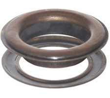 "#15(2"") 50 mm Metal Grommets-Eyelets & Washers (Antique Copper-Bronze Color )(100 Psc Set Per Bag)"