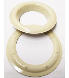 Round #12 (1 1/2\ inch ) METAL Grommets and Washers(Cream Painted Color)(ID 40 mm Ø)